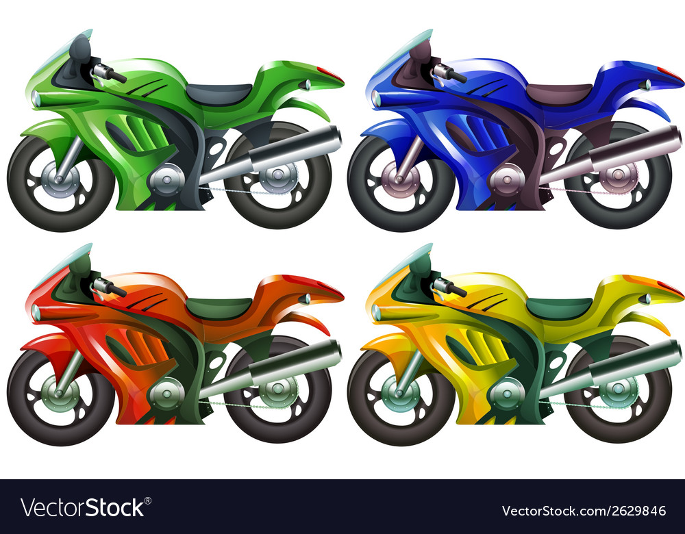 Four superbikes vector | Price: 1 Credit (USD $1)