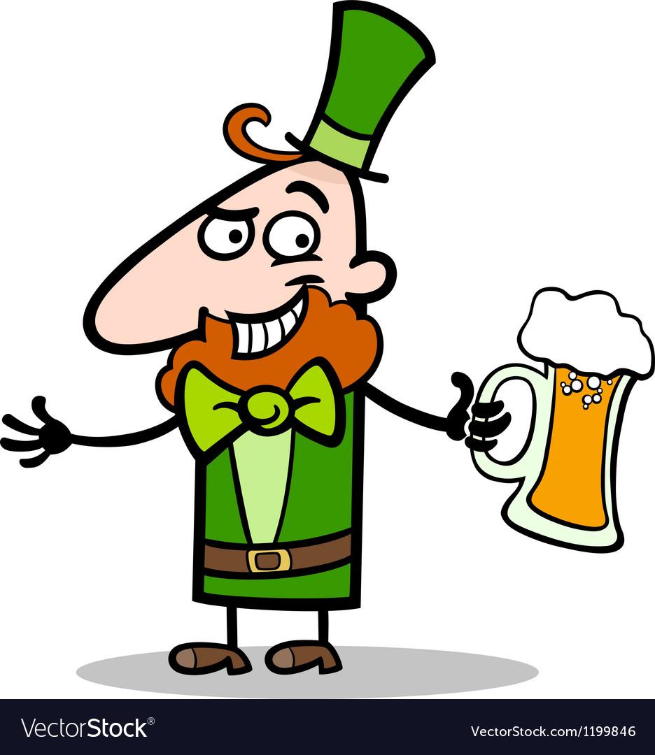 Leprechaun with beer cartoon vector | Price: 1 Credit (USD $1)