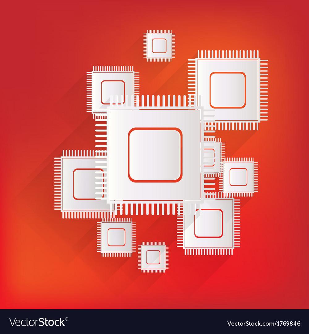 Microchip web icon vector   Price: 1 Credit (USD $1)