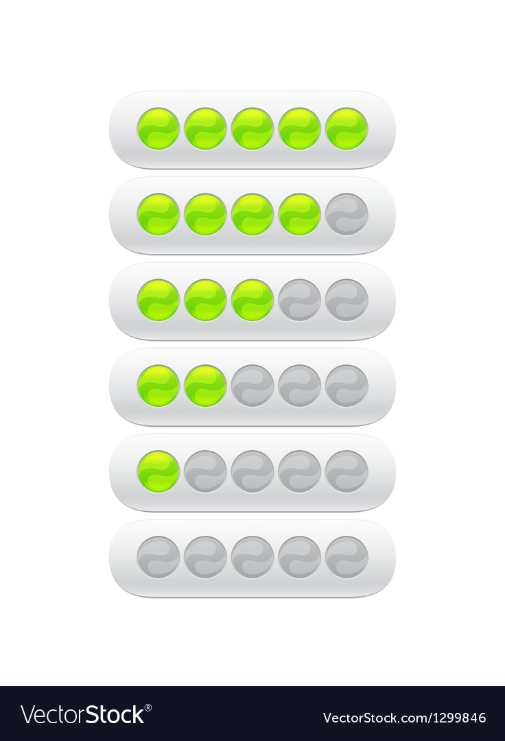 Progress bar from green circles vector | Price: 1 Credit (USD $1)