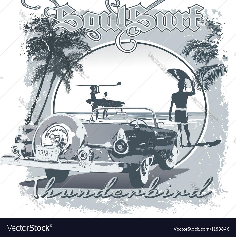Thunderbird surf vector