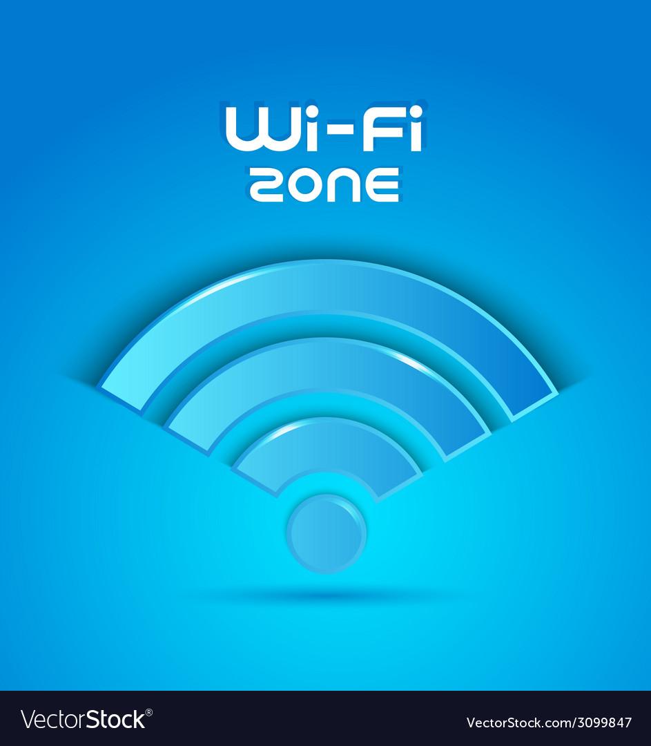 3d icon wi fi zone vector | Price: 1 Credit (USD $1)
