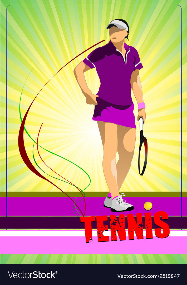 Al 0344 tennis poster 03 vector | Price: 1 Credit (USD $1)