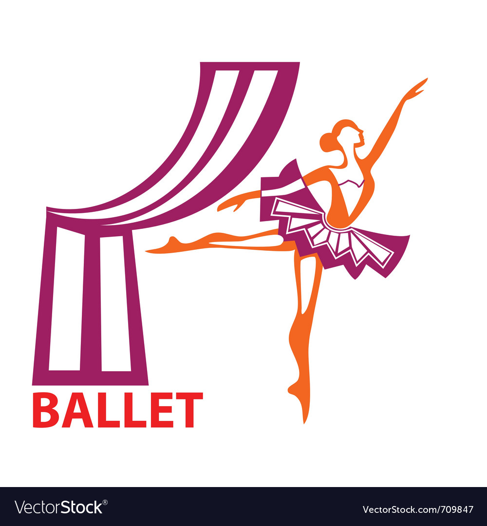 Ballet sign vector | Price: 1 Credit (USD $1)