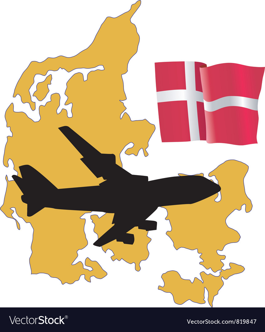 Fly me to the denmark vector | Price: 1 Credit (USD $1)