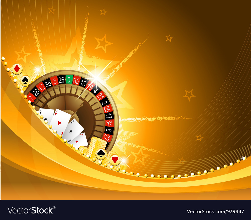 Gambling background with casino elements vector | Price: 3 Credit (USD $3)