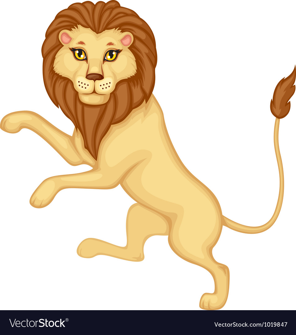 Heraldic lion vector | Price: 3 Credit (USD $3)