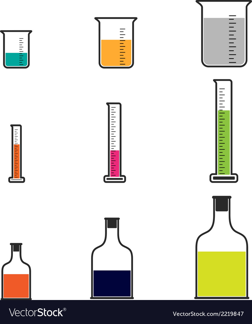 Science beakers vector | Price: 1 Credit (USD $1)