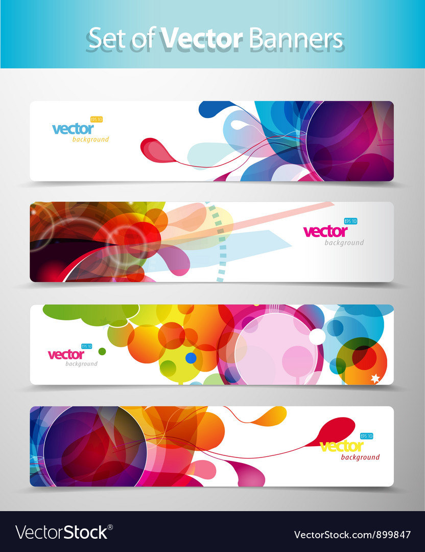 Set of abstract web banners vector | Price: 1 Credit (USD $1)