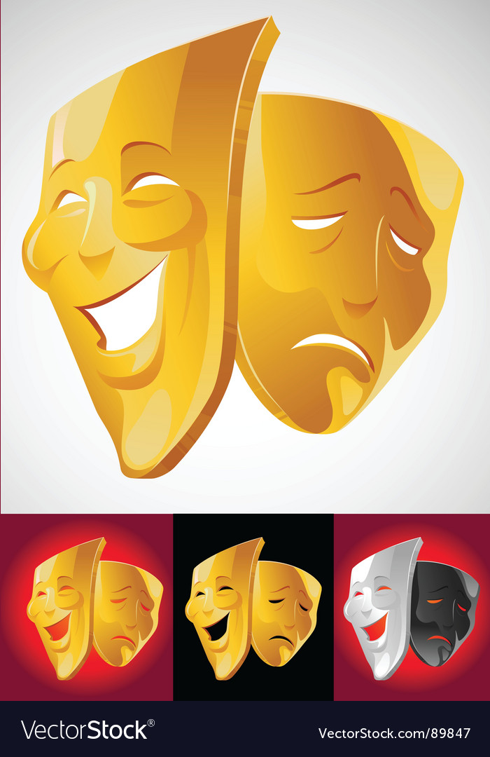 Theater masks vector | Price: 3 Credit (USD $3)