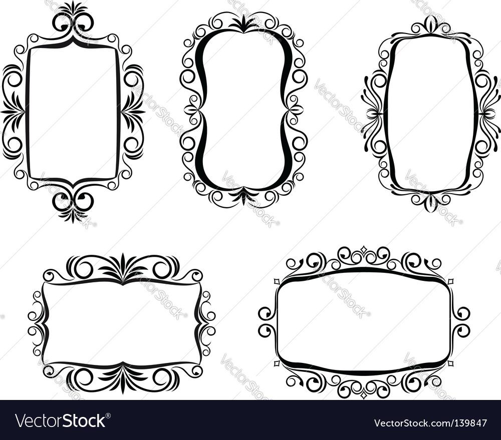 Vintage frame for design vector | Price: 1 Credit (USD $1)