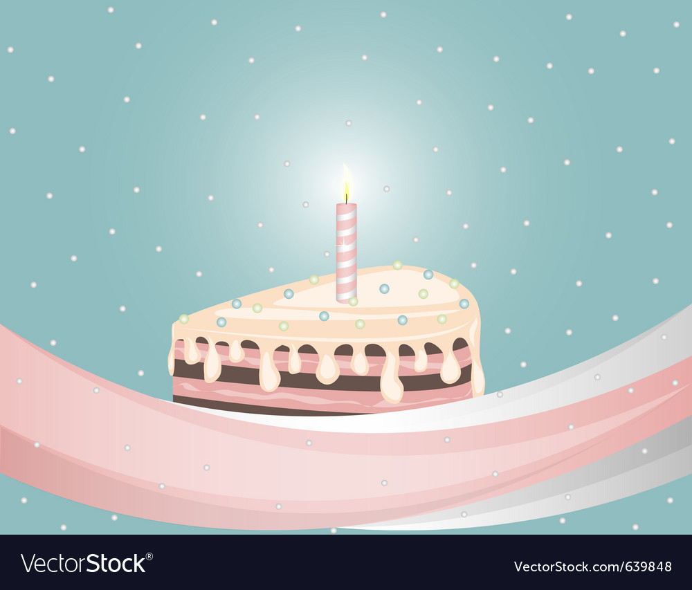 Birthday chocolate cake vector | Price: 3 Credit (USD $3)