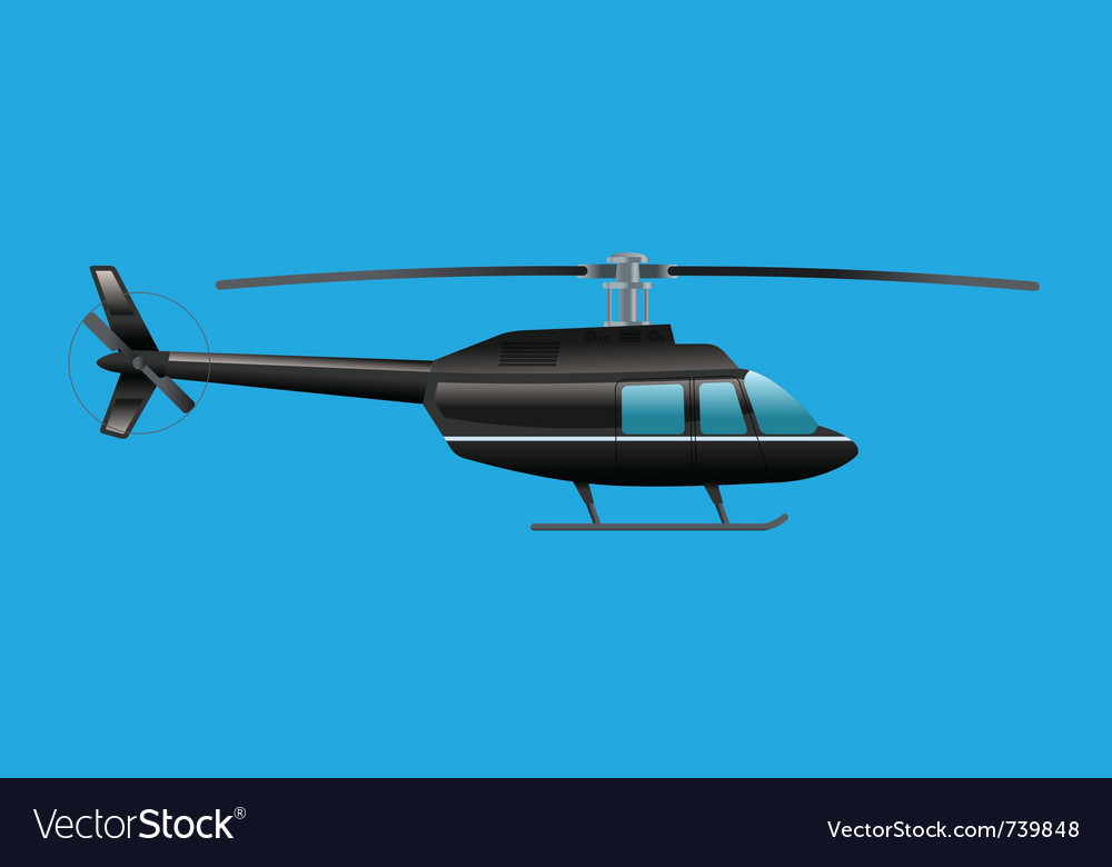 Black helicopter vector | Price: 1 Credit (USD $1)