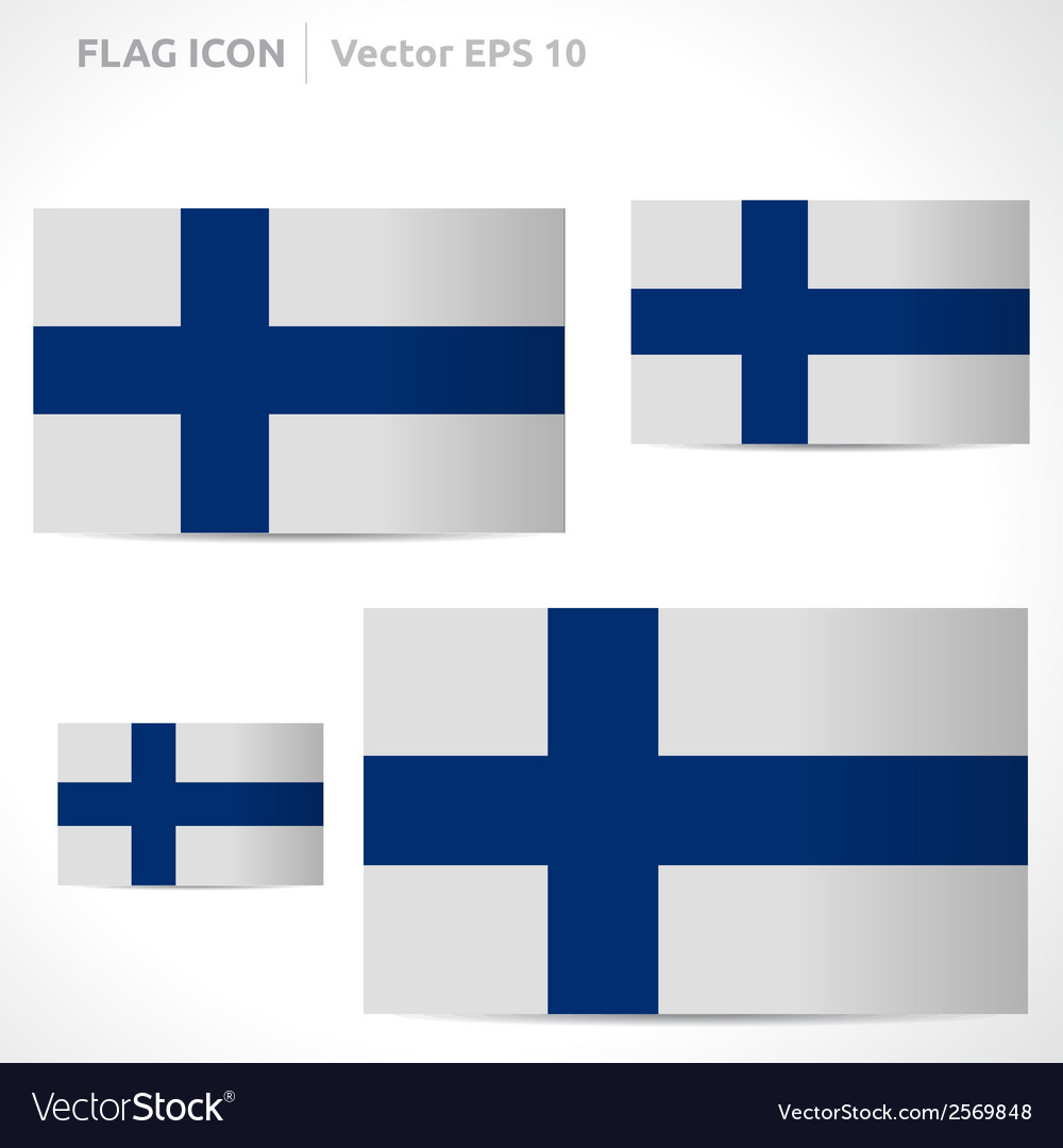 Finland flag template vector | Price: 1 Credit (USD $1)
