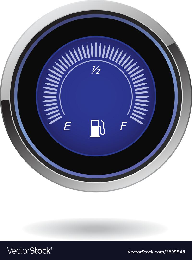 Fuel gauge vector | Price: 1 Credit (USD $1)