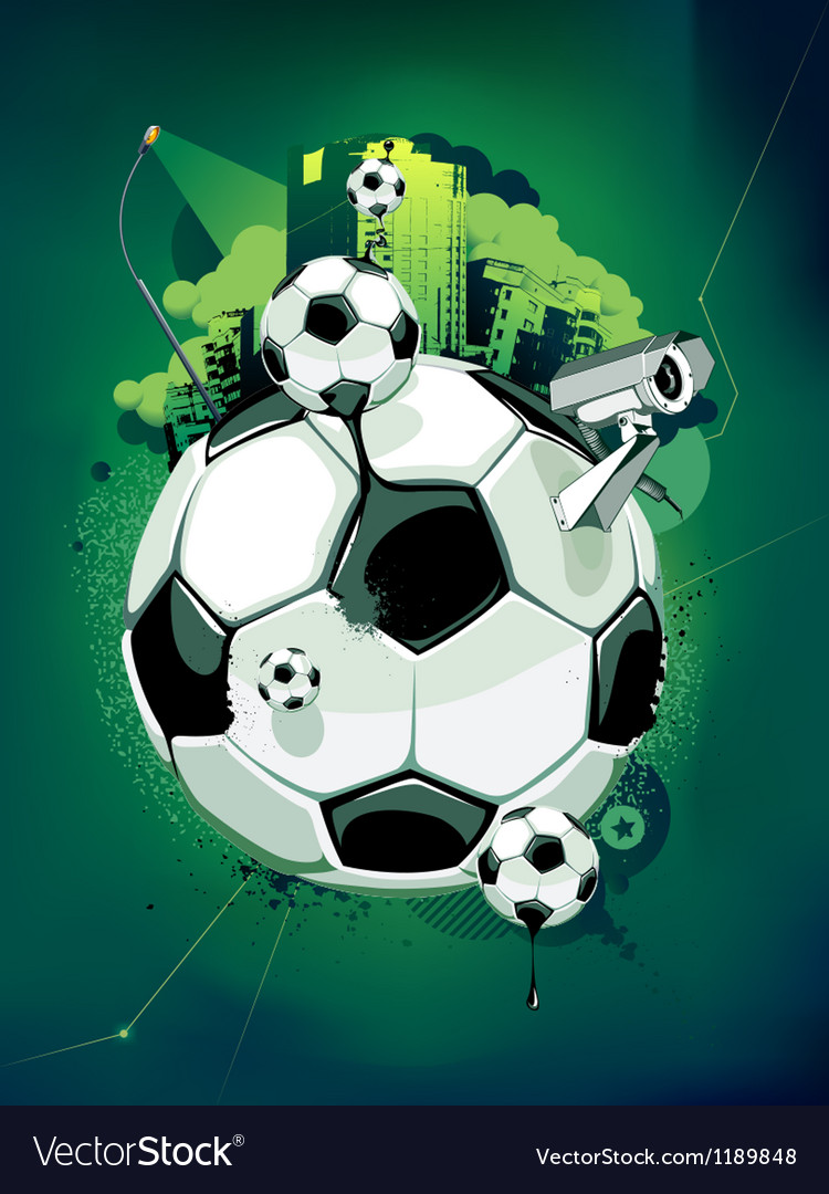 Funky football background vector | Price: 3 Credit (USD $3)