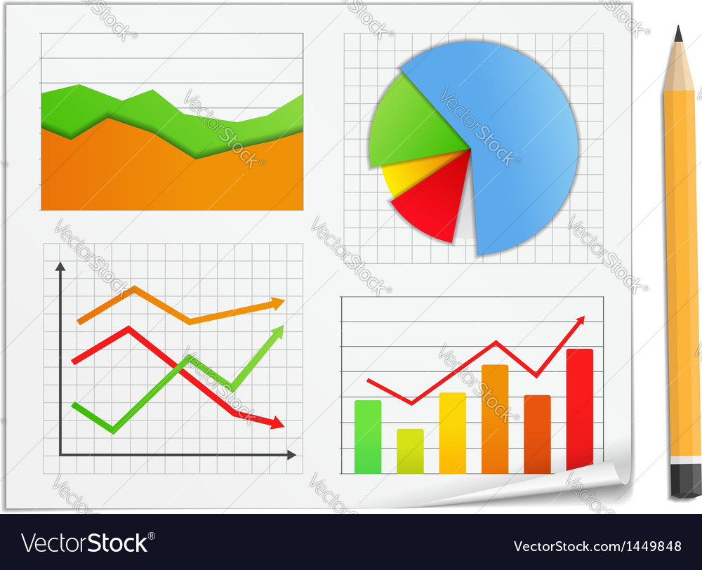 Graphs vector | Price: 1 Credit (USD $1)