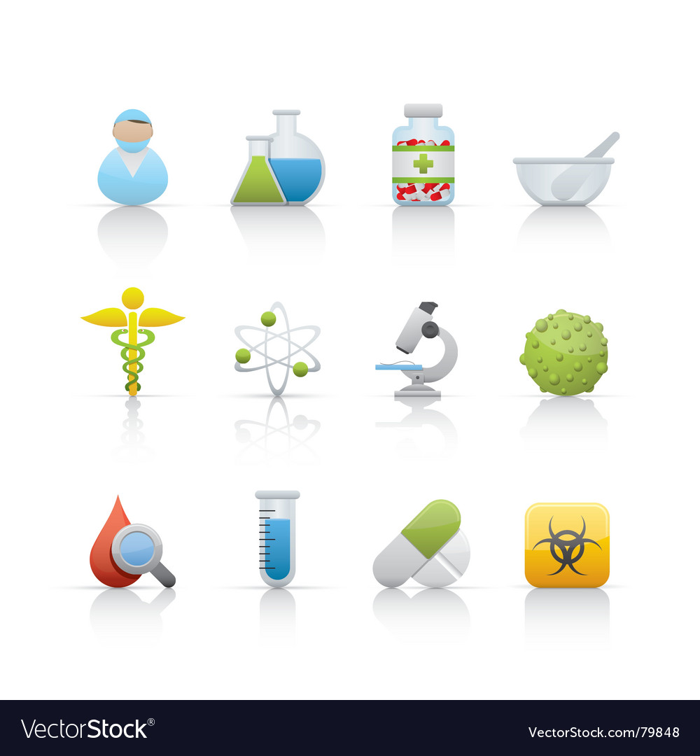 Icon set medical and pharmacy vector | Price: 1 Credit (USD $1)