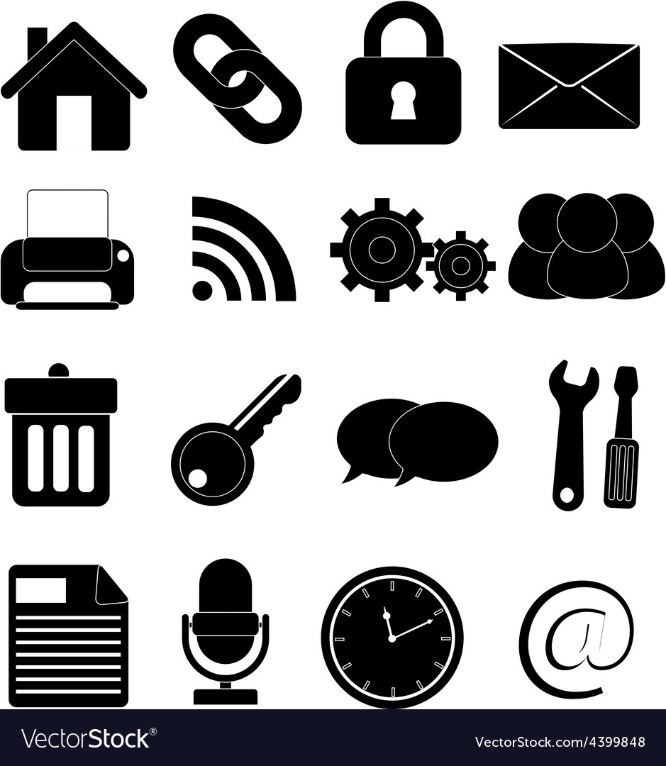 Internet web icons set vector | Price: 3 Credit (USD $3)