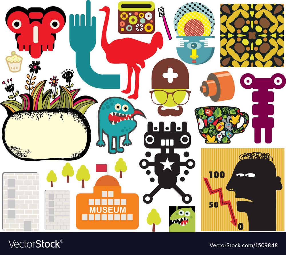 Mix of different images vol60 vector   Price: 1 Credit (USD $1)