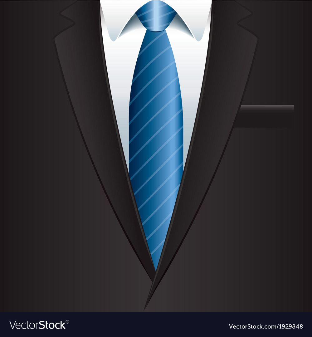 Object black man suit vector | Price: 1 Credit (USD $1)