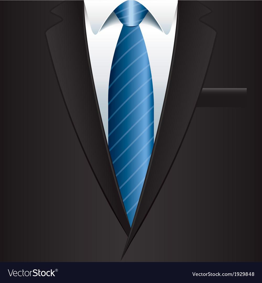 Object black man suit vector | Price: 1 Credit (USD $1)
