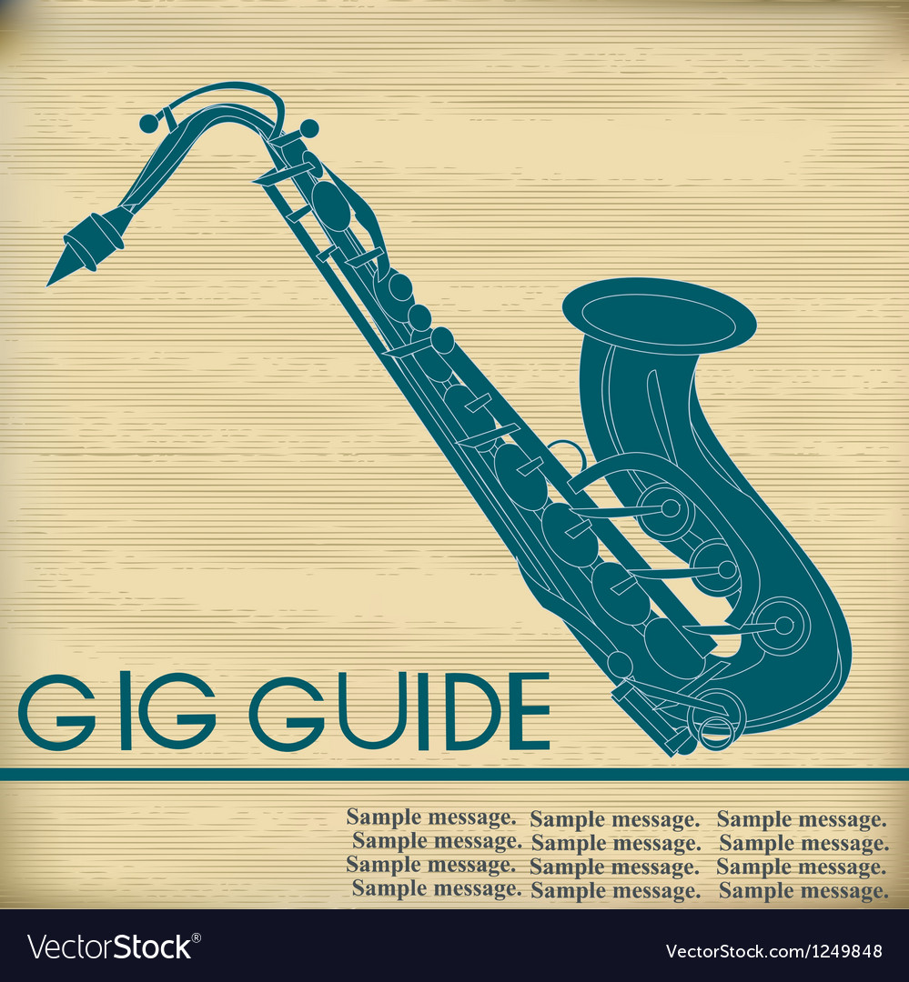 Retro saxophone vector | Price: 1 Credit (USD $1)