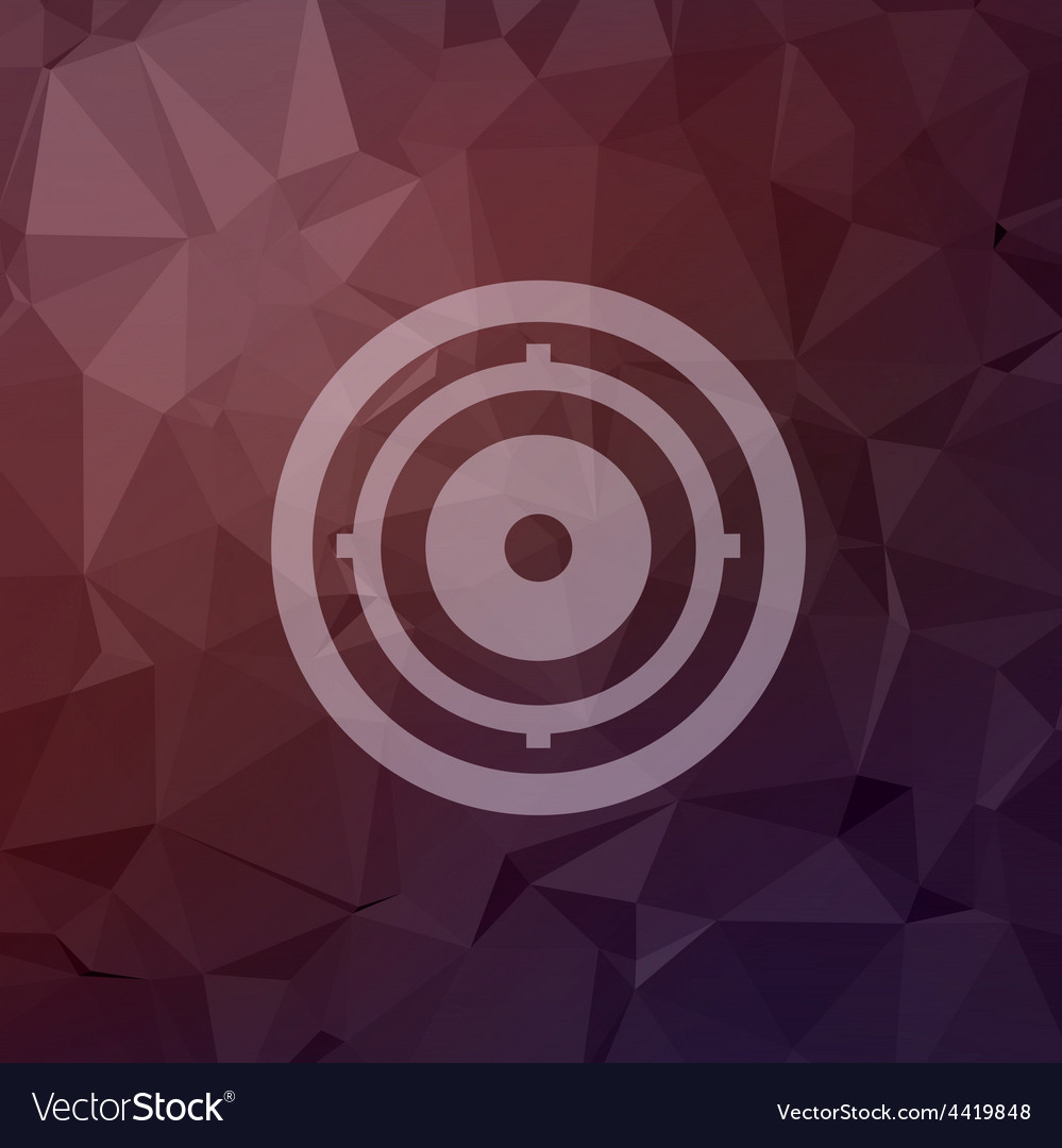 Target pad in flat style icon vector | Price: 1 Credit (USD $1)