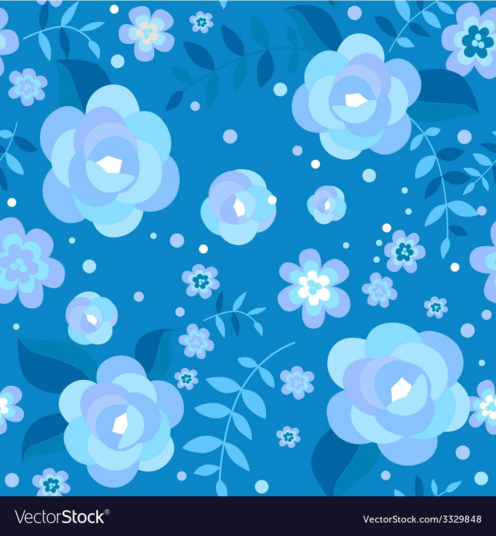 Winter floral seamless pattern vector | Price: 1 Credit (USD $1)