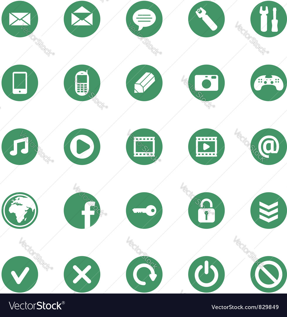 25 icons set vector | Price: 1 Credit (USD $1)