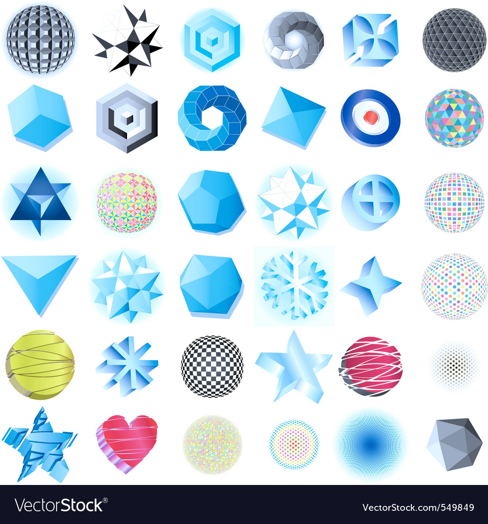 Abstract 3d design vector | Price: 1 Credit (USD $1)