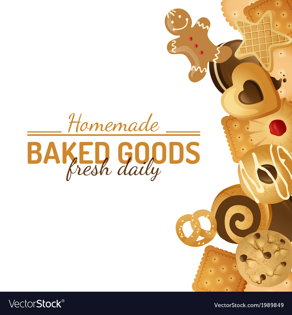 Bright background with cookies vector | Price: 1 Credit (USD $1)