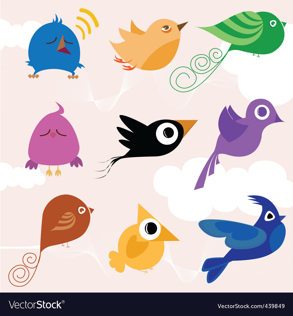 Cartoon bird vector | Price: 1 Credit (USD $1)