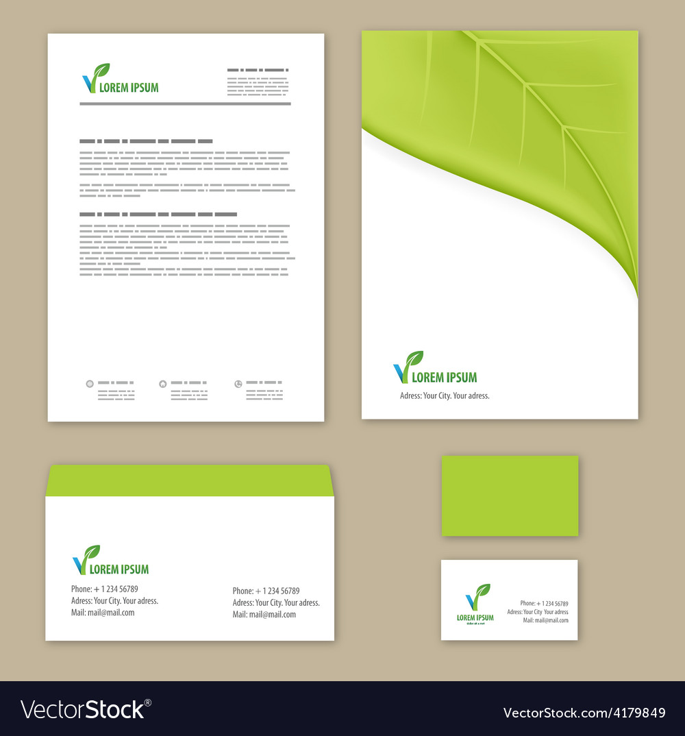 Eco green leaf logo template vector | Price: 1 Credit (USD $1)