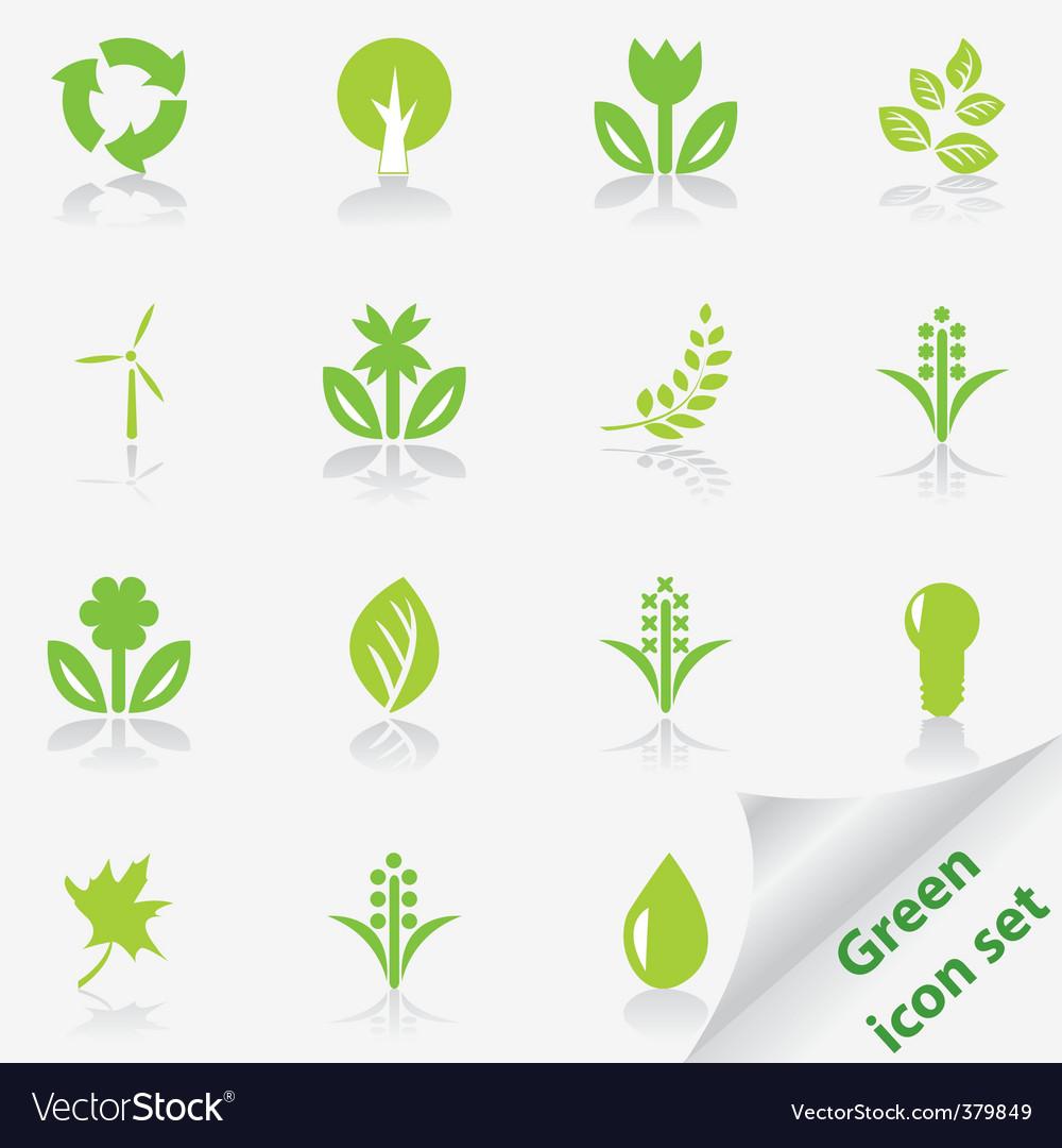 Eco icon set vector   Price: 1 Credit (USD $1)