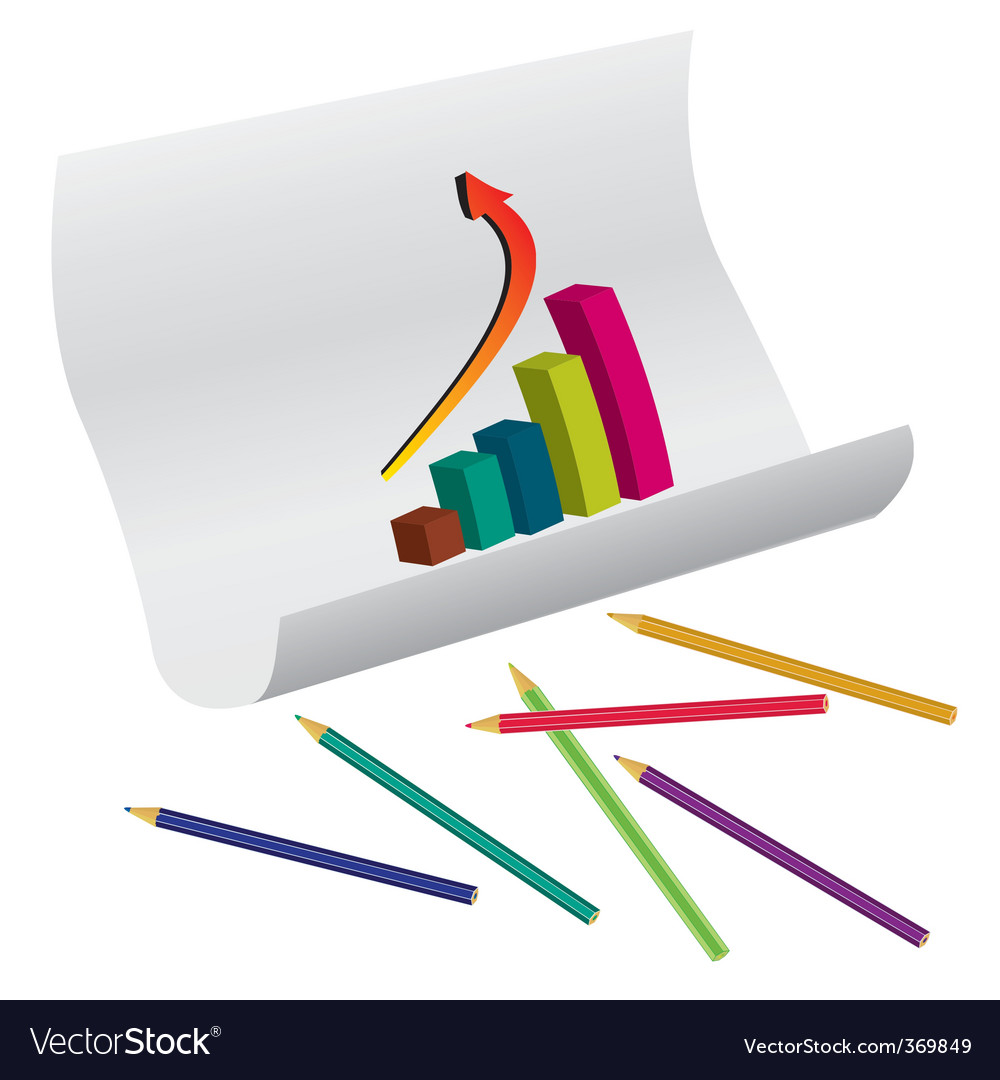 Education graph vector | Price: 1 Credit (USD $1)