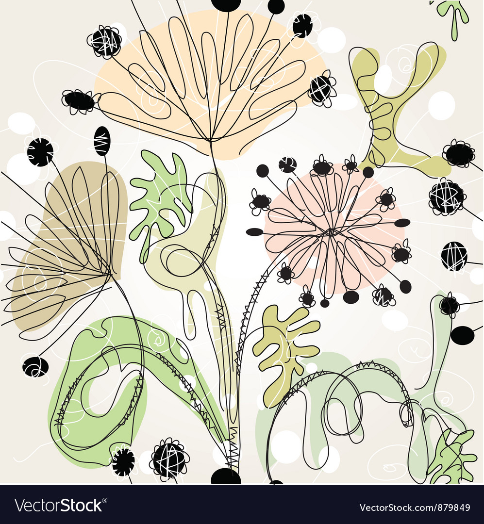 Floral scribble vector | Price: 1 Credit (USD $1)