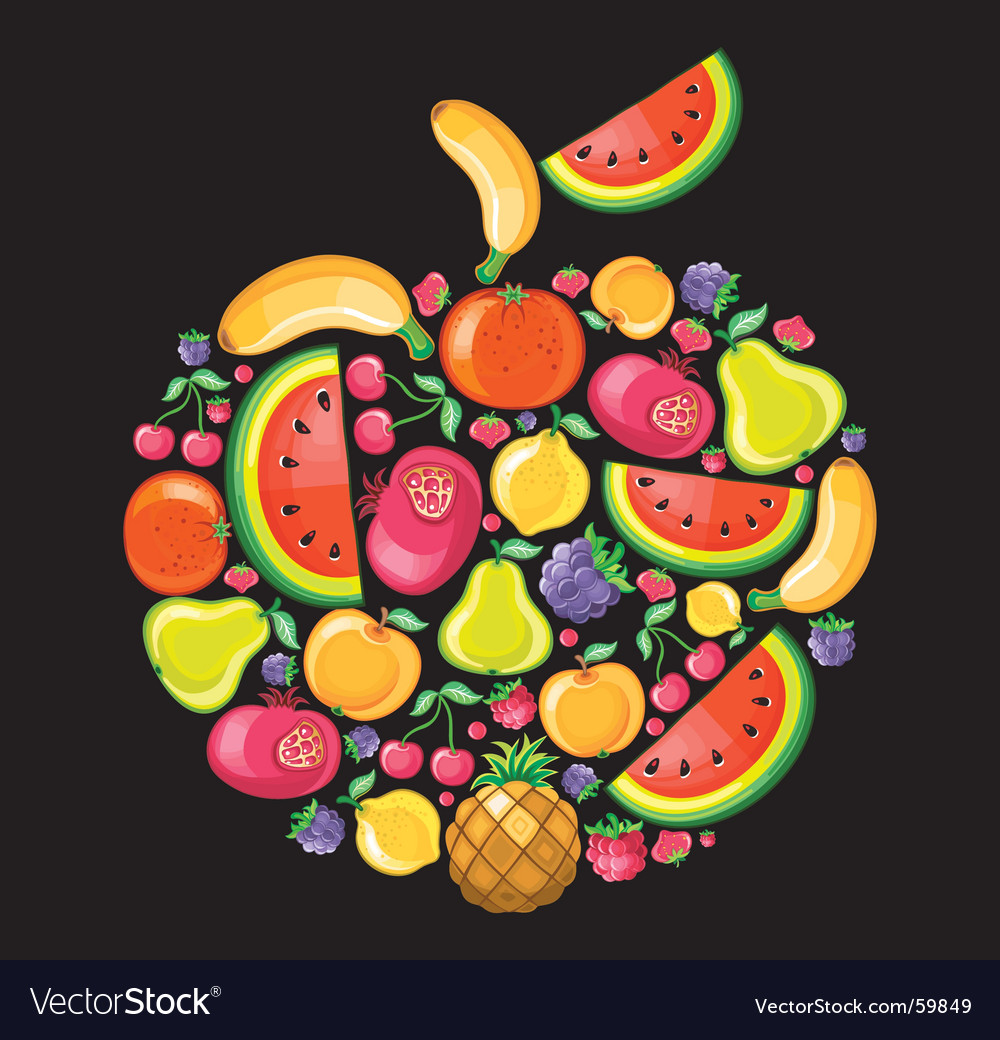 Fruit apple vector | Price: 3 Credit (USD $3)