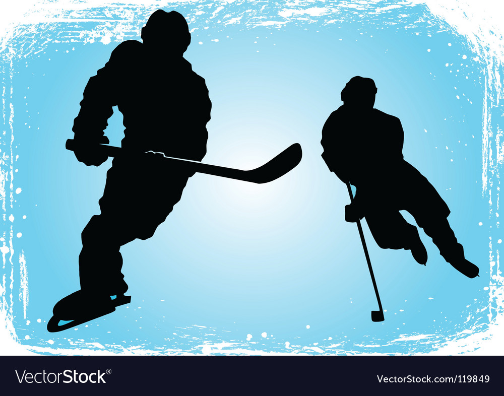 Hockey players on the ice vector | Price: 1 Credit (USD $1)