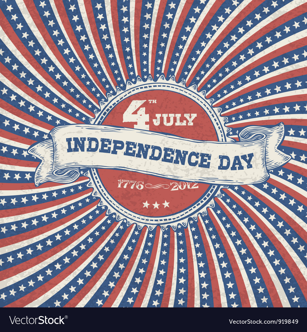 Independence day vintage poster vector | Price: 1 Credit (USD $1)