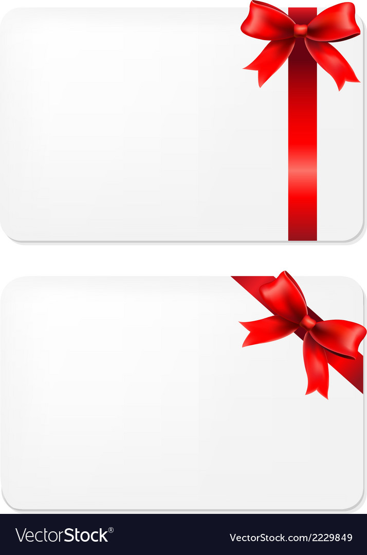 Red bow and blank gift tags vector | Price: 1 Credit (USD $1)