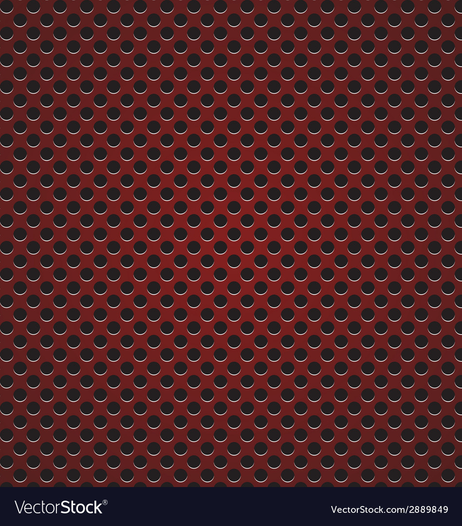 Red circle perforated carbon speaker grill texture vector | Price: 1 Credit (USD $1)