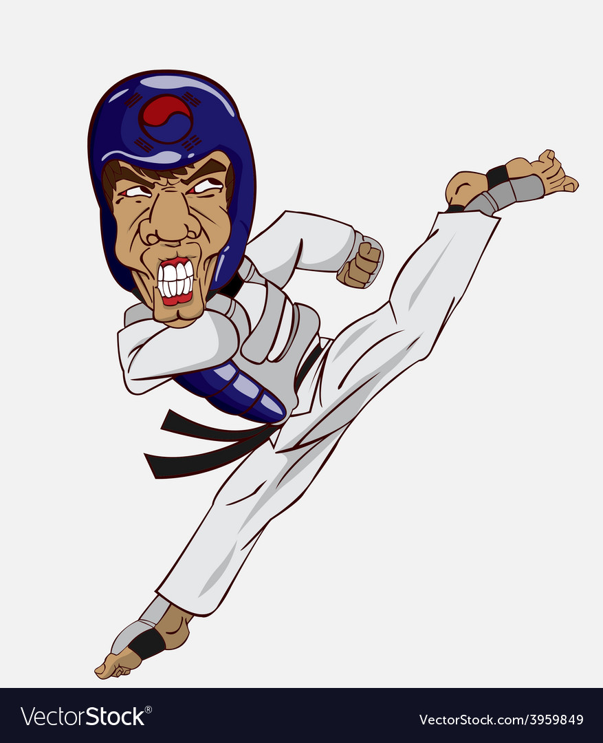 Taekwondo martial art vector | Price: 3 Credit (USD $3)