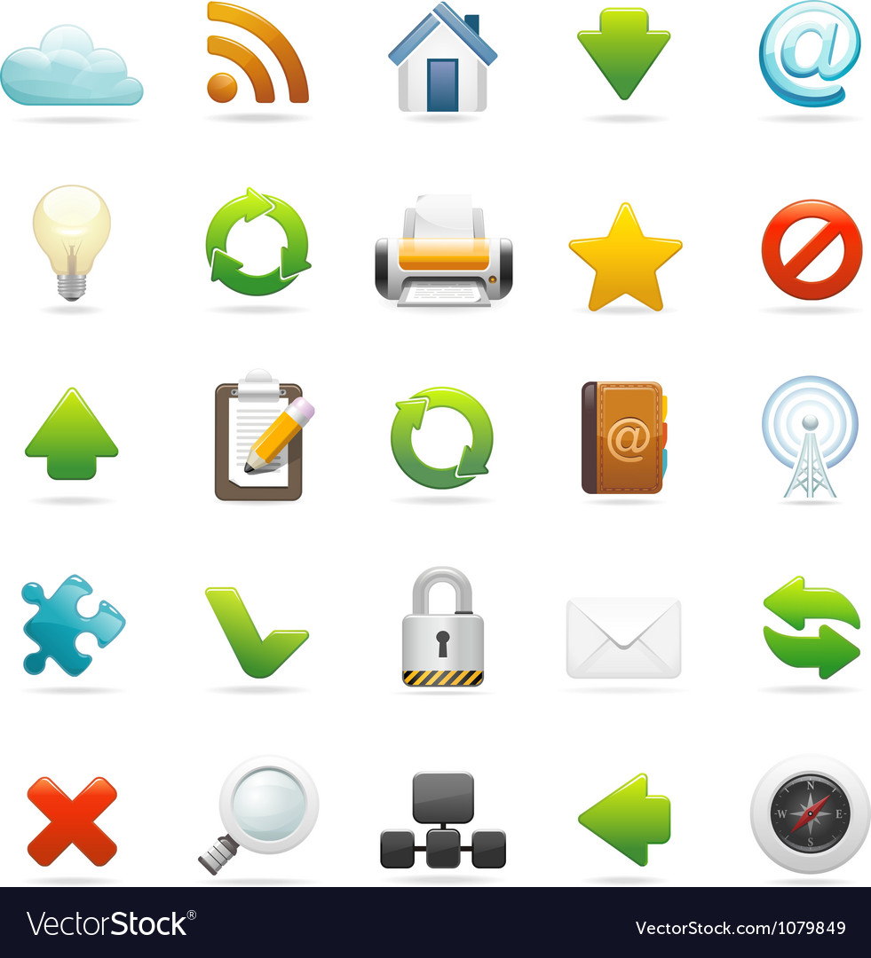 Web and internet icon set vector | Price: 3 Credit (USD $3)