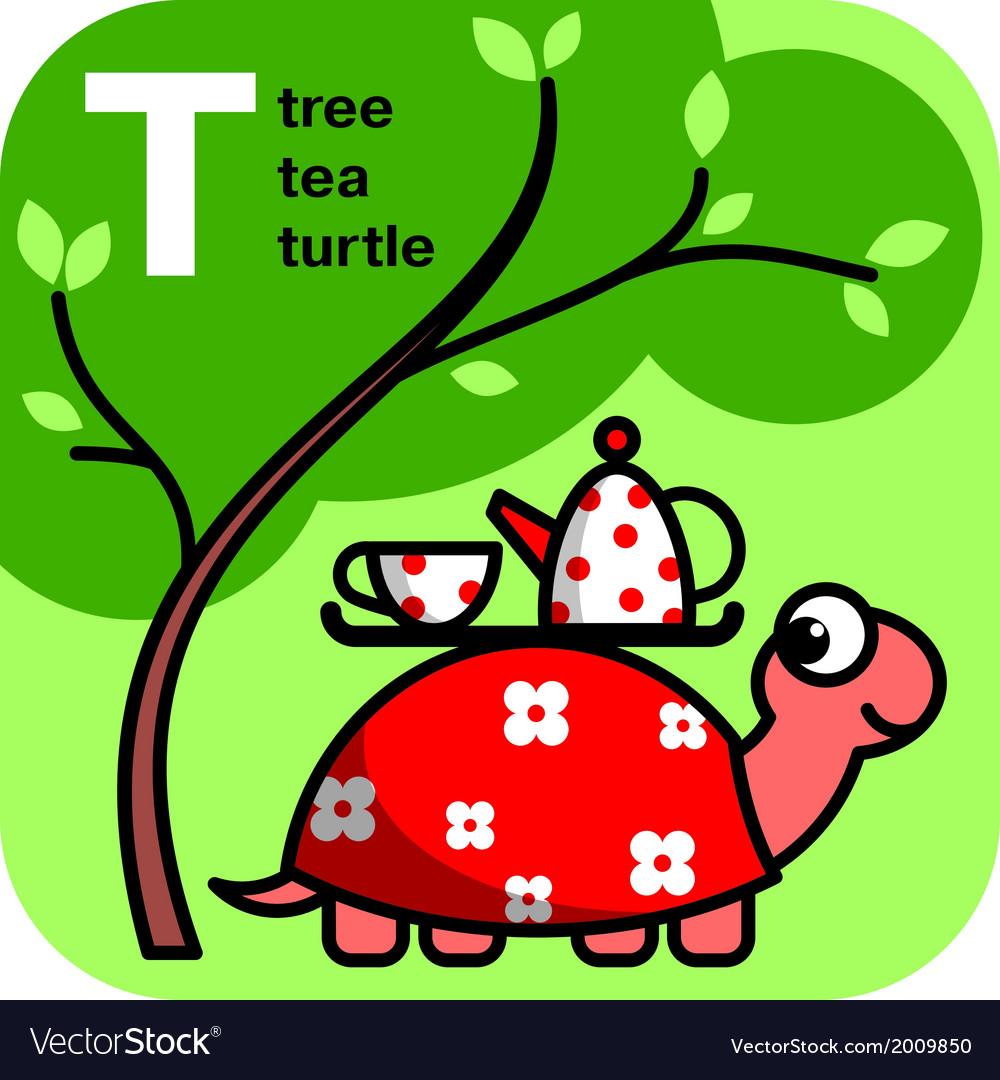 Abc tea tree turtle vector