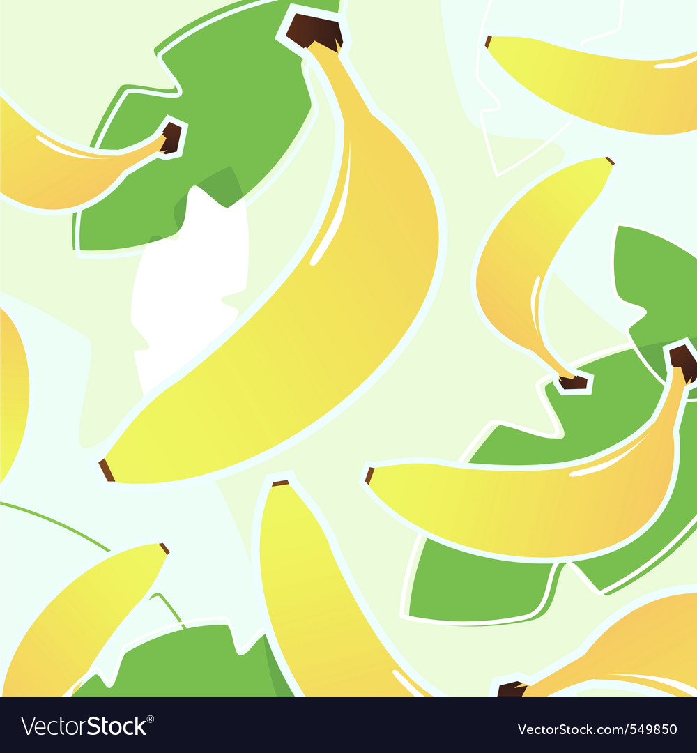 banana vector pattern vector | Price: 1 Credit (USD $1)