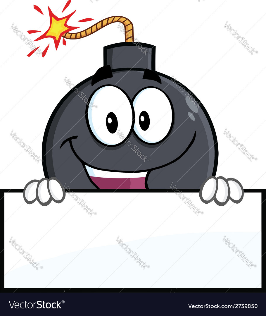 Cartoon bomb design vector | Price: 1 Credit (USD $1)