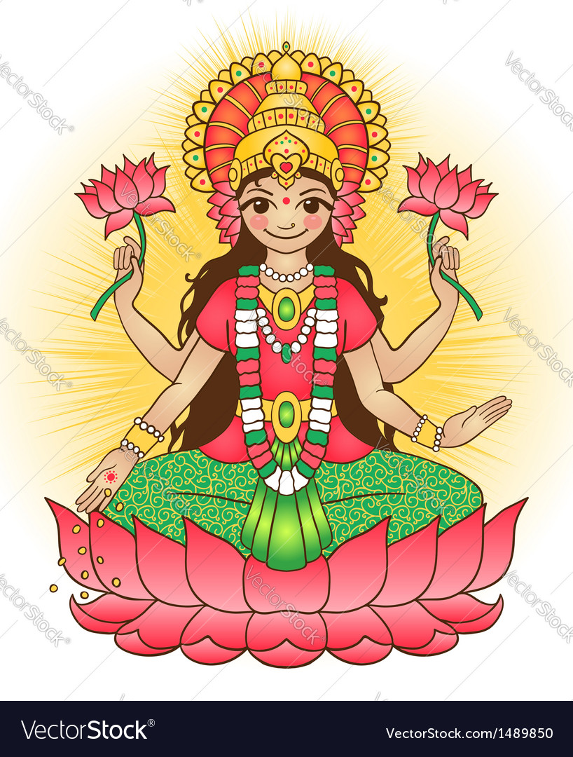 Goddess lakshmi vector | Price: 3 Credit (USD $3)