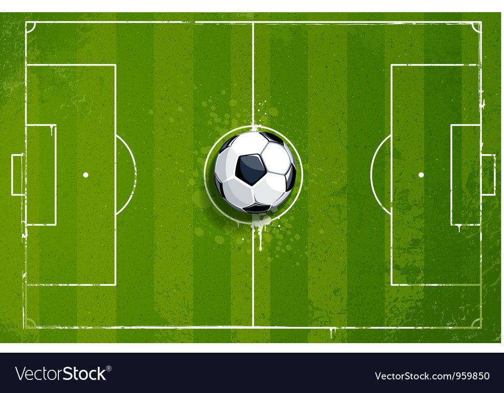 Grunge soccer playing field vector