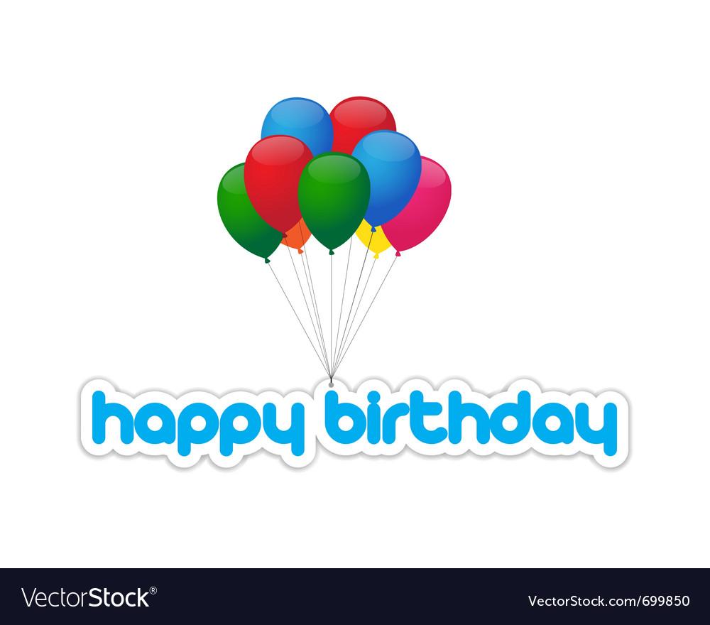 Happy birthday balloons vector   Price: 1 Credit (USD $1)